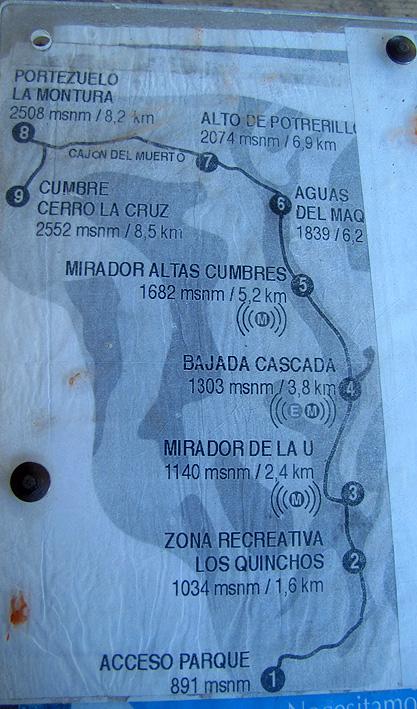 cruz quebrada mapa Cerro La Cruz   Quebrada de Macul   Andeshandbook cruz quebrada mapa
