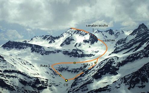 Cerro Gloria, rutas normales