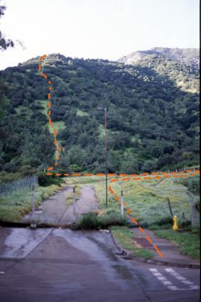 Comienzo ruta Agua del Palo