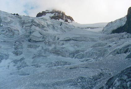 Parte media del glaciar