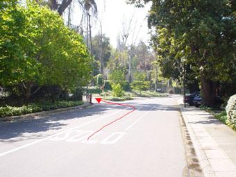 Comienzo calle Camino El Condor