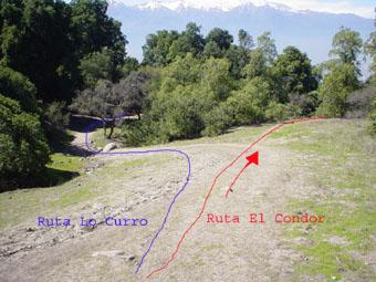 Salida de la ruta Lo Curro