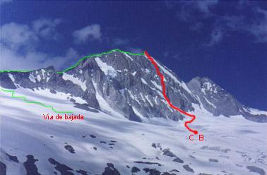 Vía Besser-Farías, pared sur de Hernán Cruz