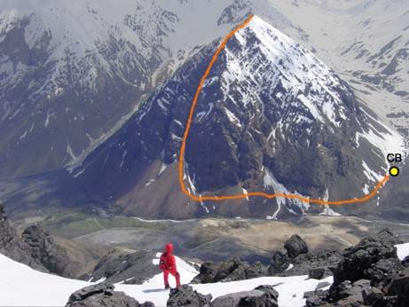 vista de la ruta desde el retumbadero