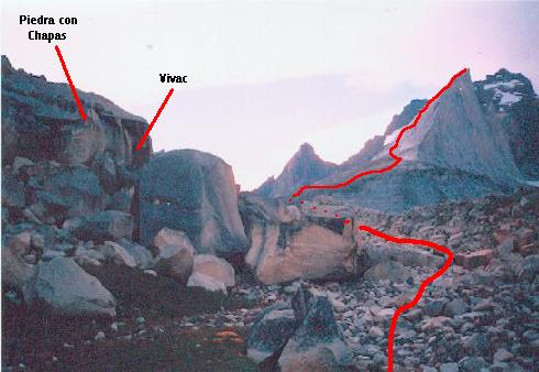 Ubicación del vivac