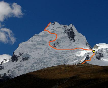 Ruta a cumbre norte