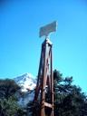 Cumbre Volcán Lanín desde Hito Fronterizo