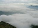 Vista desde cumbre del Pochoco en un día nublado.