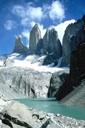 Torres del Paine, glaciar y lago