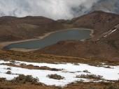 Laguna Copín desde los cerros atrás de ella