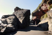 Cruce a playa Huentemó