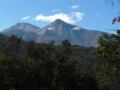 Vista al cerro el Roble desde el Plateau