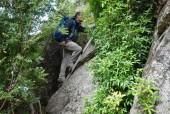 Escalera en sector de rocas