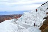Cruzando glaciar La Paloma