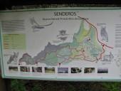 Mapa de los senderos