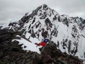 Pico negro desde cima punta Andino