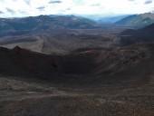 Vista desde el cráter hacia el Norte