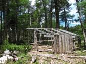 Cabaña a medio construir