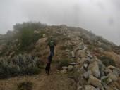 Sendero junto al muro de piedra