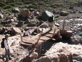 Cruce del río Azufre con puente