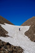 Llegando al punto alto del paso El Peñón