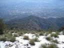 Vista de Santiago desde la cumbre