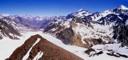 Nevado del Plomo desde el Leon Negro