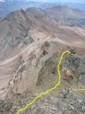 Pasadas de roca previas a la cumbre