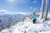 Cristian Moreno gozando entre cactus y nieve