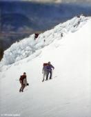 Sector El Tubo con nieve