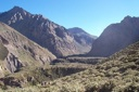 Quebrada del río Colorado camino al Base.