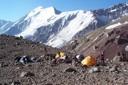 Vista al sierra Bella desde Camp. 4.400 msnm.