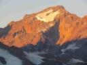 Nevado del Plomo desde Glaciar Olivares Alfa