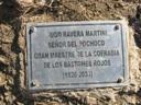 Placa Conmemorativa al Gran Maestre de la Cofradía de los Bastones Rojos