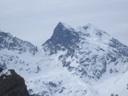 Morado: Pared Sur, Cumbres Sur y Norte y Glaciar Colgante