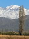 Cerro Plata desde Luján de Cuyo, Mendoza