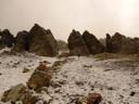Formaciones rocosas en la base del cerro