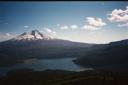 Vista al Llaima y Lago Conguillío desde el Sierra Nevada