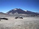 Cerro Vicuñas visto desde Refugio Atacama, 5.150 msnm.