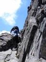 Escalando en la cresta