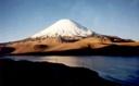 Atardecer del volcán Parinacota