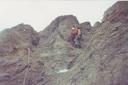 Escalando la pared Oeste del Bismark