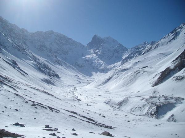 Monumento Natural El Morado en Invierno