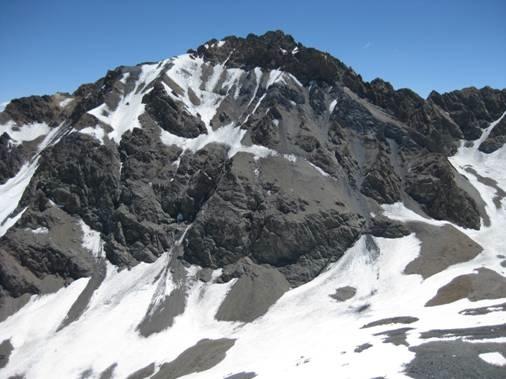 Cara E Co. Las Placas 4672msnm desde el Co. Morro Escondido
