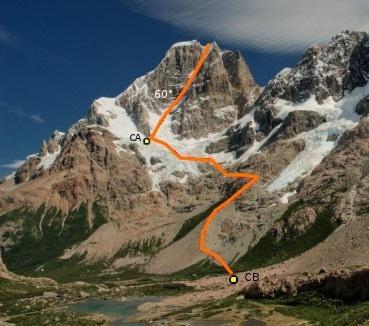 Cara noreste del Cerro Norte (espolón norte)