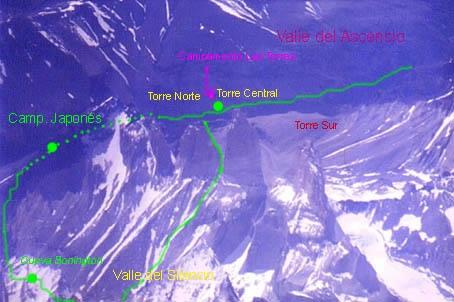 Vista aérea de las tres torres