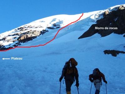 Comienzo de la ruta directa glaciar Sur