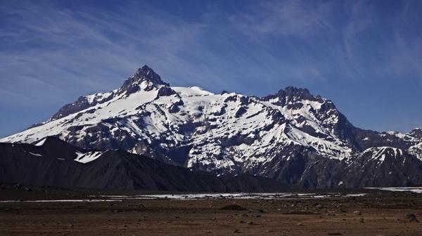 Sierra Velluda desde el norte.