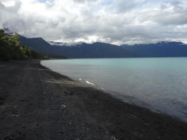 Playa lago Todos los Santos