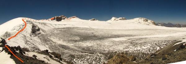 Circo glaciar del Nevado sin Nombre